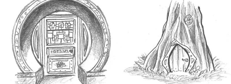 Sophia-Fendel-Skizzenbuch-Türen
